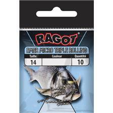 MICRO SWIVEL RAGOT TRIPLE ROLLING - PACK OF 10