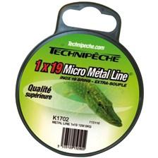 Leaders Technipêche METAL LINE MICROCABLE EXTRA SOUPLE TECHNIPECHE 10KG