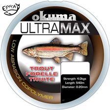 MONOFILAMENT OKUMA ULTRAMAX TROUT GREY