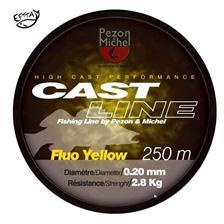 MONOFILAMENT PEZON & MICHEL CAST LINE FLUO YELLOW