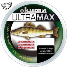 MONOFILE ANGELSCHNUR OKUMA ULTRAMAX ZANDER GREY