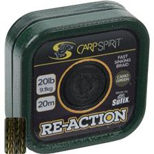 MULTIFILAR BAIXOS DE LINHA CARP SPIRIT RE-ACTION BRAID CAMO GREEN - 20M