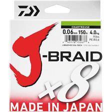 MULTIFILAR DAIWA J BRAID X 8 CHARTREUSE - 150M