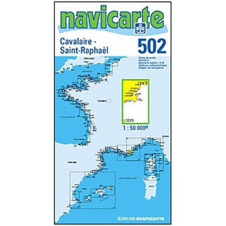 NAVIGATIE WATERKAART NAVICARTE CAVALAIRE - ST RAPHAEL