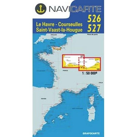NAVIGATIE WATERKAART NAVICARTE LE HAVRE - ST VAAST - LA HOUGE