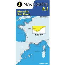 NAVIGATIE WATERKAART NAVICARTE MARSEILLE SAN REMO