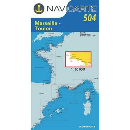 NAVIGATIE WATERKAART NAVICARTE MARSEILLE - TOULON - LES CALANQUES