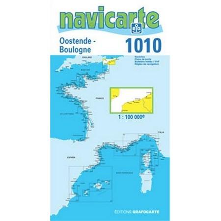 NAVIGATIE WATERKAART NAVICARTE OSTENDE - BOULOGNE - PAS DE CALAIS
