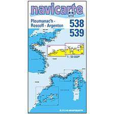 NAVIGATIE WATERKAART NAVICARTE PLOUMANEC'H - ROSCOFF