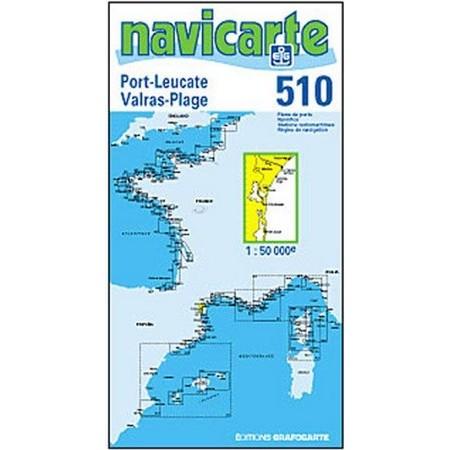 NAVIGATIE WATERKAART NAVICARTE PORT LEUCATE - GRUISSAN - VALRAS