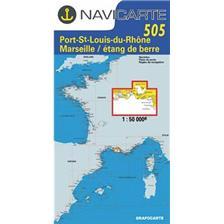 NAVIGATIE WATERKAART NAVICARTE PORT ST LOUIS - ETANG DE BERRE - MARSEILLE