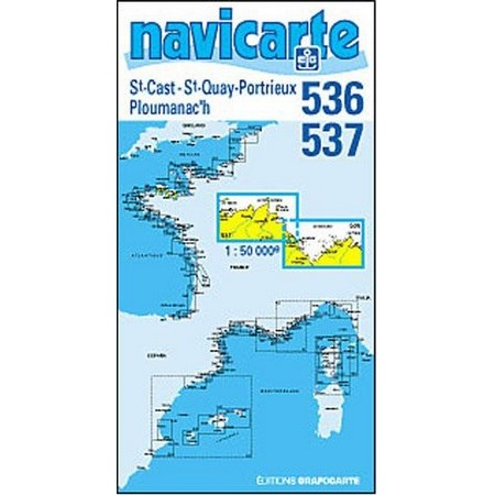 NAVIGATIE WATERKAART NAVICARTE ST CAST - PLOUMANEC'H