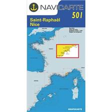 NAVIGATIE WATERKAART NAVICARTE ST RAPHAEL - NICE - ILES DE LERINS