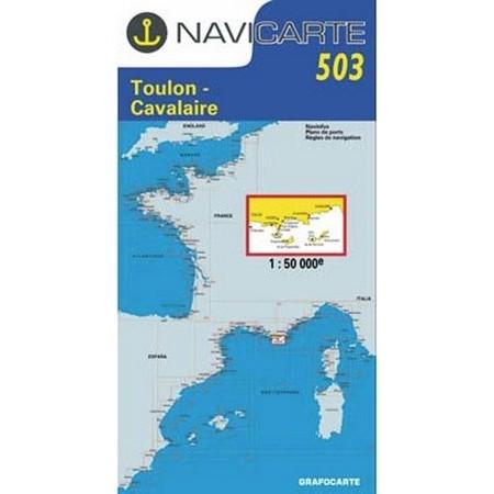 NAVIGATIE WATERKAART NAVICARTE TOULON - CAVALAIRE - ILES D'HYERES