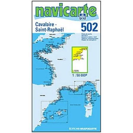 NAVIGATIONSKARTE NAVICARTE CAVALAIRE - ST RAPHAEL