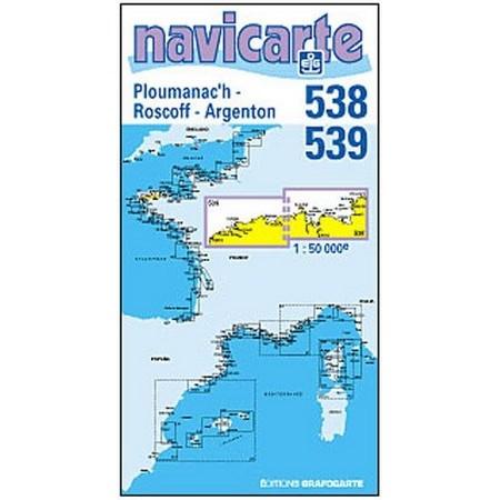 NAVIGATIONSKARTE NAVICARTE PLOUMANEC'H - ROSCOFF