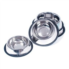 NON-SLIPPERY STAINLESS STEEL DOG BOWL