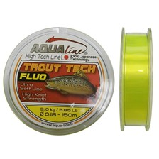 NYLON AQUALINE TROUT TECH JAUNE FLUO