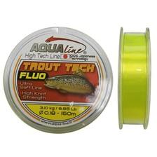 Lignes Aqualine TROUT TECH JAUNE FLUO 20/100