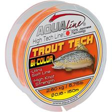 NYLON AQUALINE TROUT TECH JAUNE ORANGE