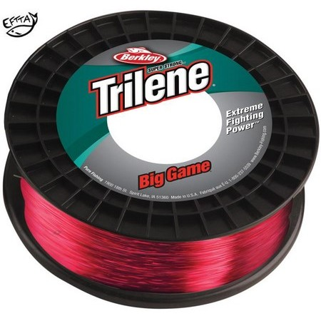 NYLON BERKLEY TRILENE BIG GAME ECONO SPOOL - ROUGE - 600M