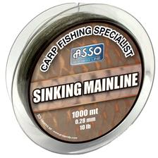 NYLON CARPE ASSO MAINLINE SINKING 1000M - MARRON