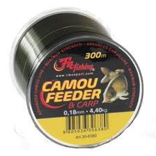 NYLON CARPE AUTAIN FEEDER & CARP CAMOU - 300M