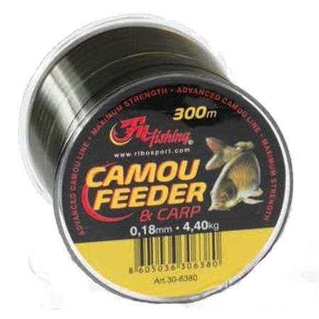 NYLON CARPE AUTAIN FEEDER & CARP CAMOU - 300M