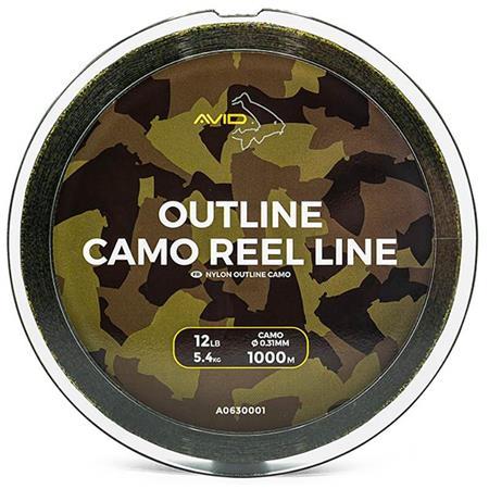 NYLON CARPE AVID CARP OUTLINE CAMO REEL LINE - 1000M