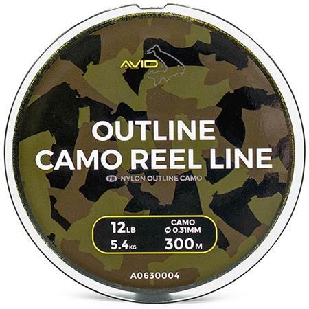 NYLON CARPE AVID CARP OUTLINE CAMO REEL LINE - 300M