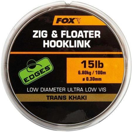 NYLON FOX EDGES ZIG & FLOATER HOOKLINK - 100M
