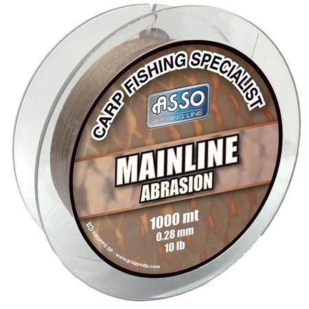 NYLON KARPER LIJN ASSO MAINLINE ABRASION 1000M - BRUIN