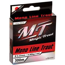 NYLON MAGIC TROUT MONO LINE TROUT ROUGE - 300M