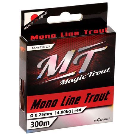 NYLON MAGIC TROUT MONO LINE TROUT ROUGE - 300M