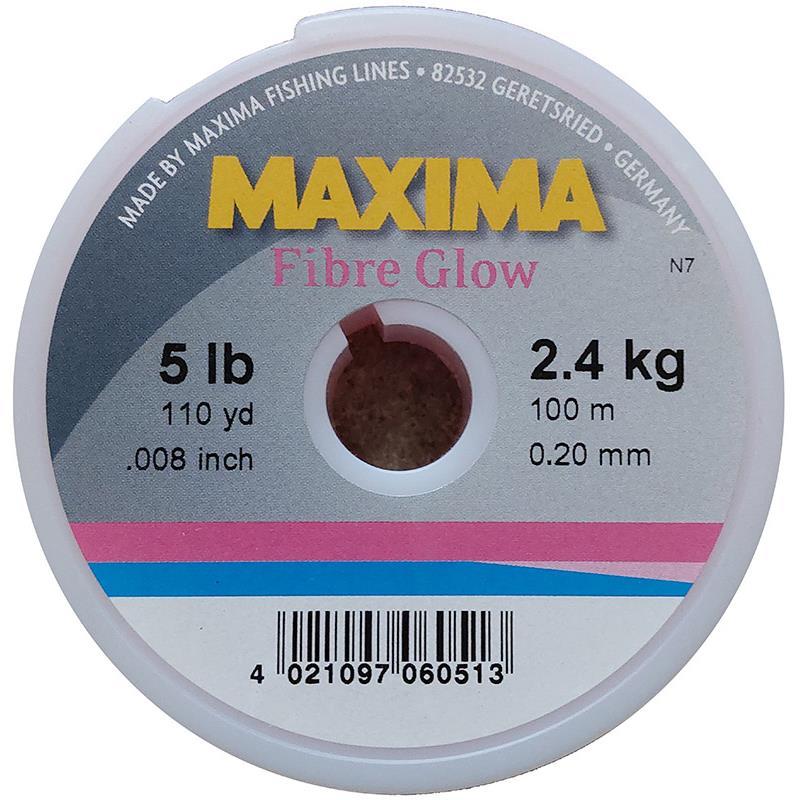 NYLON MAXIMA FIBRE GLOW - ROSE -  1000m - 40/100