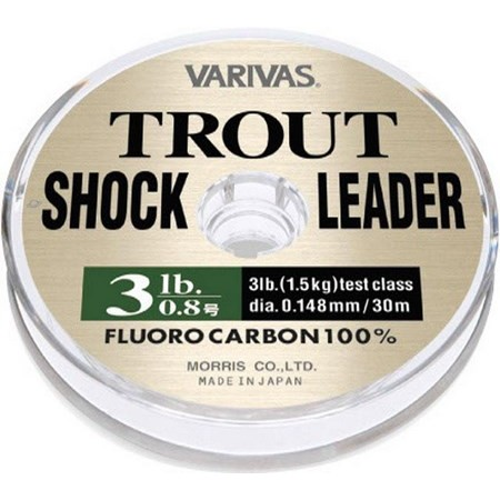 NYLON/MEER VARIVAS TROUT SHOCK LEADER - 30M
