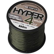 Lignes Ron Thompson HYPER 4OZ NYLON SPOOLS VERT 35/100 - 650M, 40/100MM, 11.2KG