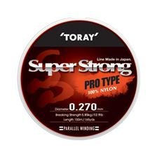 Lignes Toray SUPER STRONG 150M TRANSPARENT 17.5/100