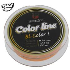 NYLON TRUITE PEZON & MICHEL E.VIVES COLOR LINE 100M - ORANGE/BLANC