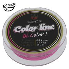 NYLON TRUITE PEZON & MICHEL E.VIVES COLOR LINE 100M - ROSE/BLANC