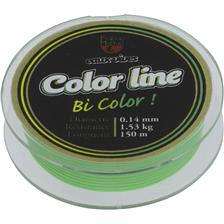 NYLON TRUITE PEZON & MICHEL E.VIVES COLOR LINE 100M - VERT/JAUNE