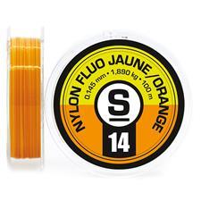 Lignes Pierre Sempé NYLON TRUITE FLUO ORANGE/JAUNE 100M NFOJ0.16