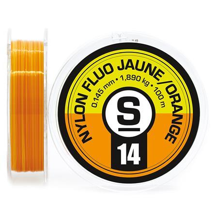 NYLON TRUITE SEMPE FLUO ORANGE/JAUNE - 100M