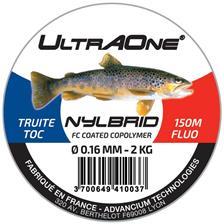 Lines UltrAOne NYLBRID TRUITE/TOC JAUNE FLUO 150M 16/100