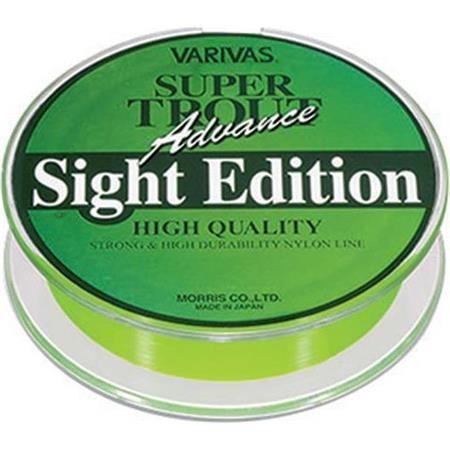NYLON VARIVAS SUPER TROUT ADVANCE SIGHT EDITION VERT - 100M