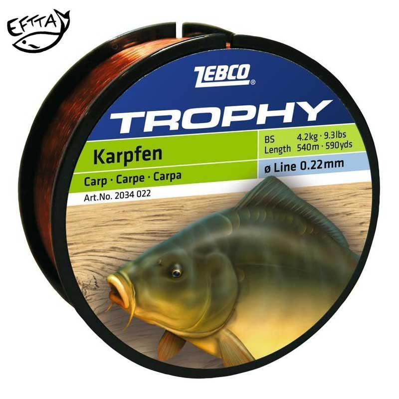 Nylon zebco trophy carpe for Carpe achat