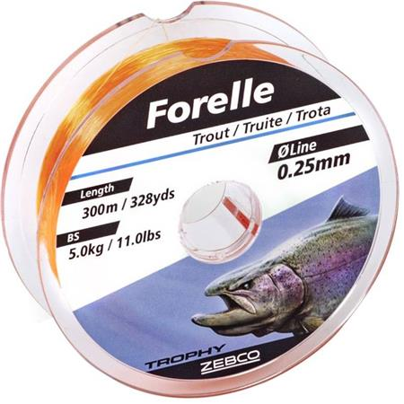 NYLON ZEBCO TROPHY FORELLE - 300M