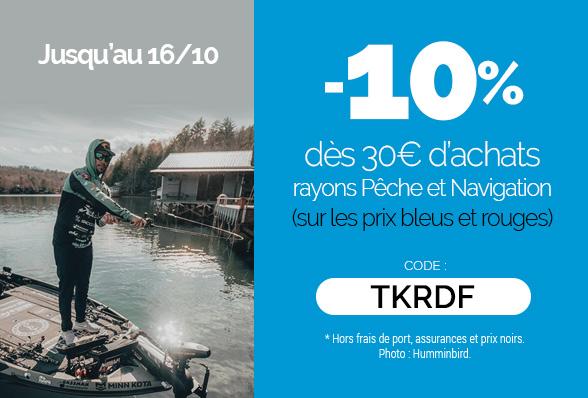 Code Promo Rayons Pêche & Navigation