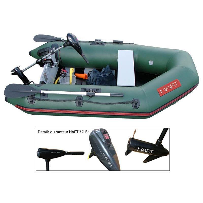 Pack barca gonfiabile hart trooper 320 motore hart 32 lbs - Moteur pour annexe pneumatique ...