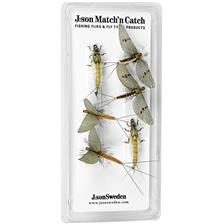 PACK DE 6 MOSCAS J:SON MATCH'N CATCH GREEN DRAKE